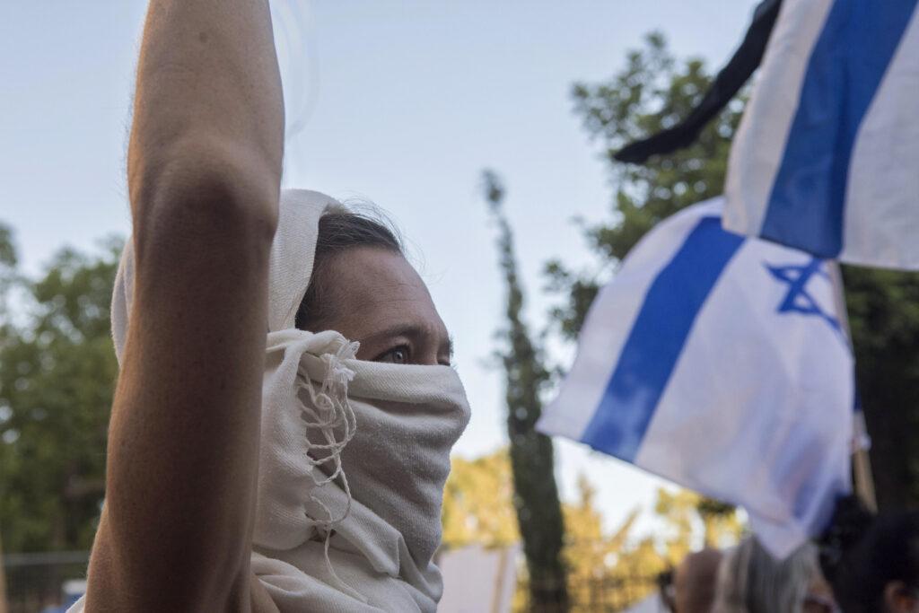 Demonstration, Israelin, israelische Demonstrantin
