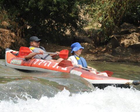 Rafting im Jordan Fluss