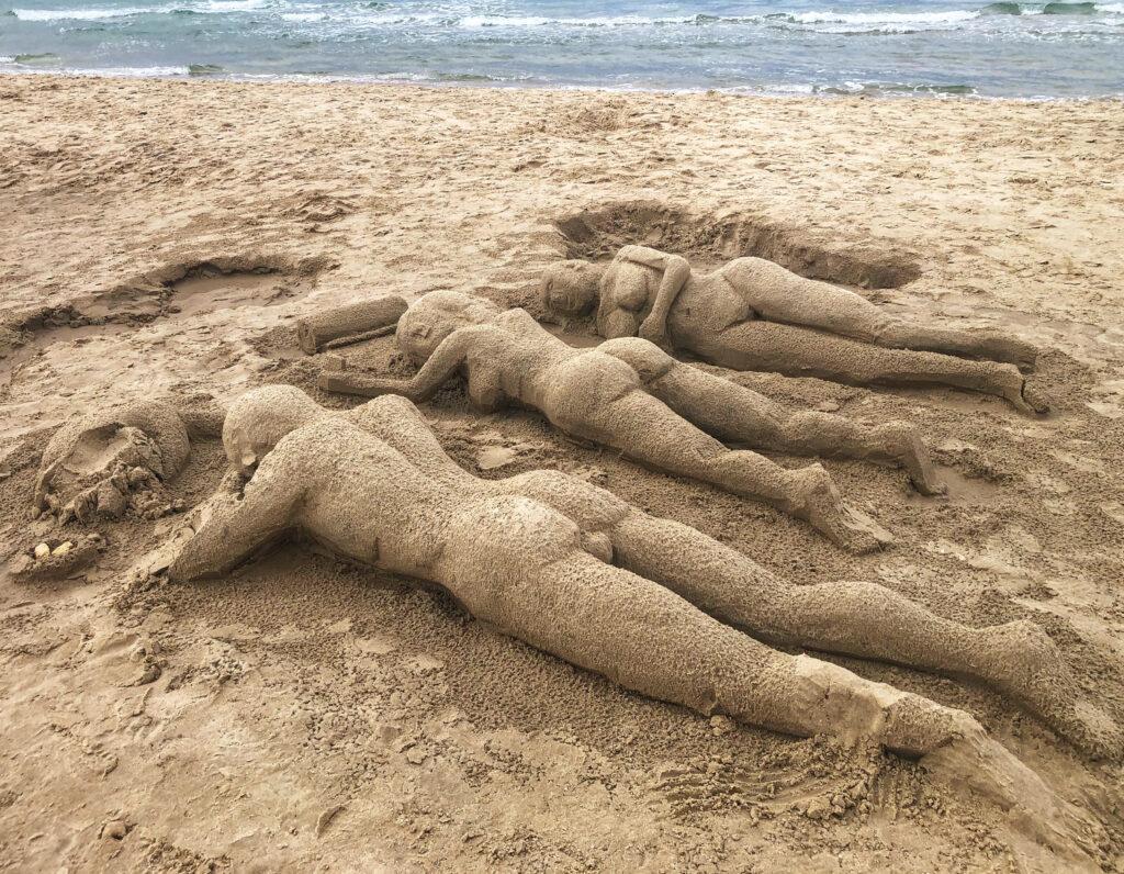 sandstatuen, Israel, Dan Lazar, israelischer Fotograf