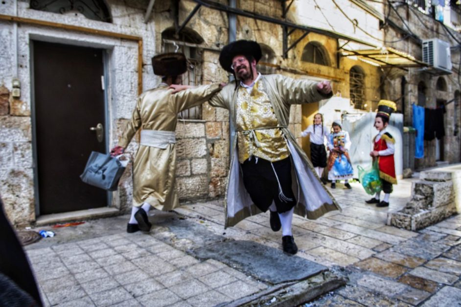 Purimtanz, Purim in Mea Shearim, Purim in Israel
