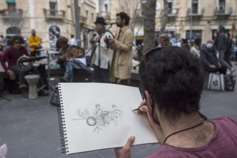 Strassenkünstler, Jerusalem, Israel, Strassenkunst
