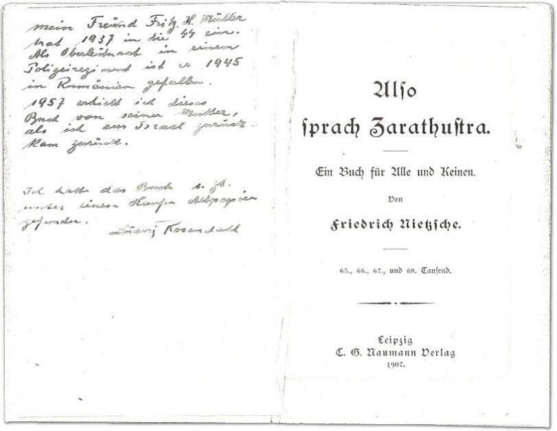 Fritz und Ludwig, zwei Freunde. Damals, 1934, schenkte Ludwig seinem Freund noch ein Buch. von Benjamin Rosendahl