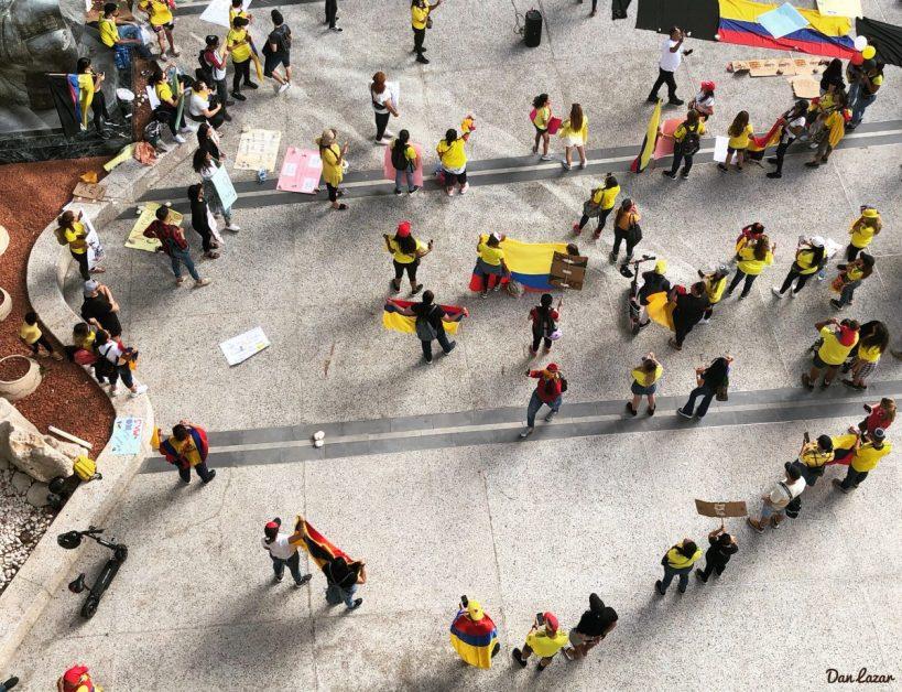 Israelische Demonstration gegen Kolumbien in Israel