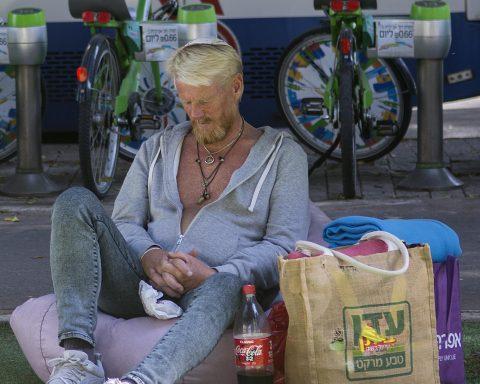 Obdachlose, Israel, Obdachloser